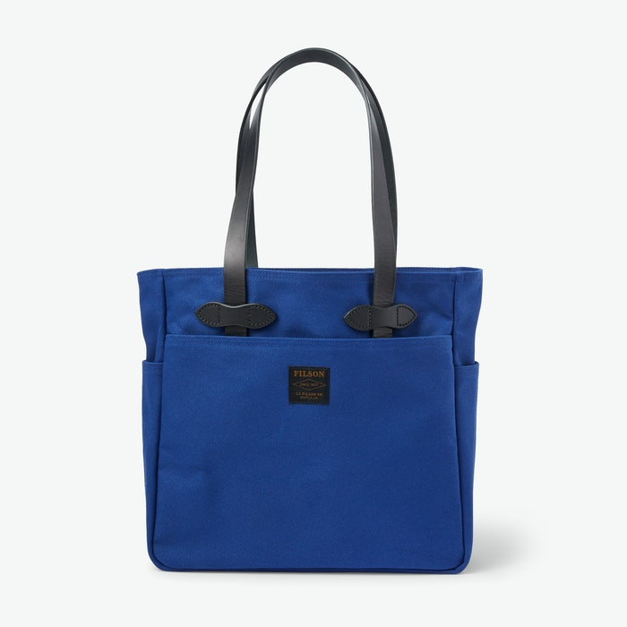 Filson-Rugged-Twill-Tote-Bag-Flag-Blue