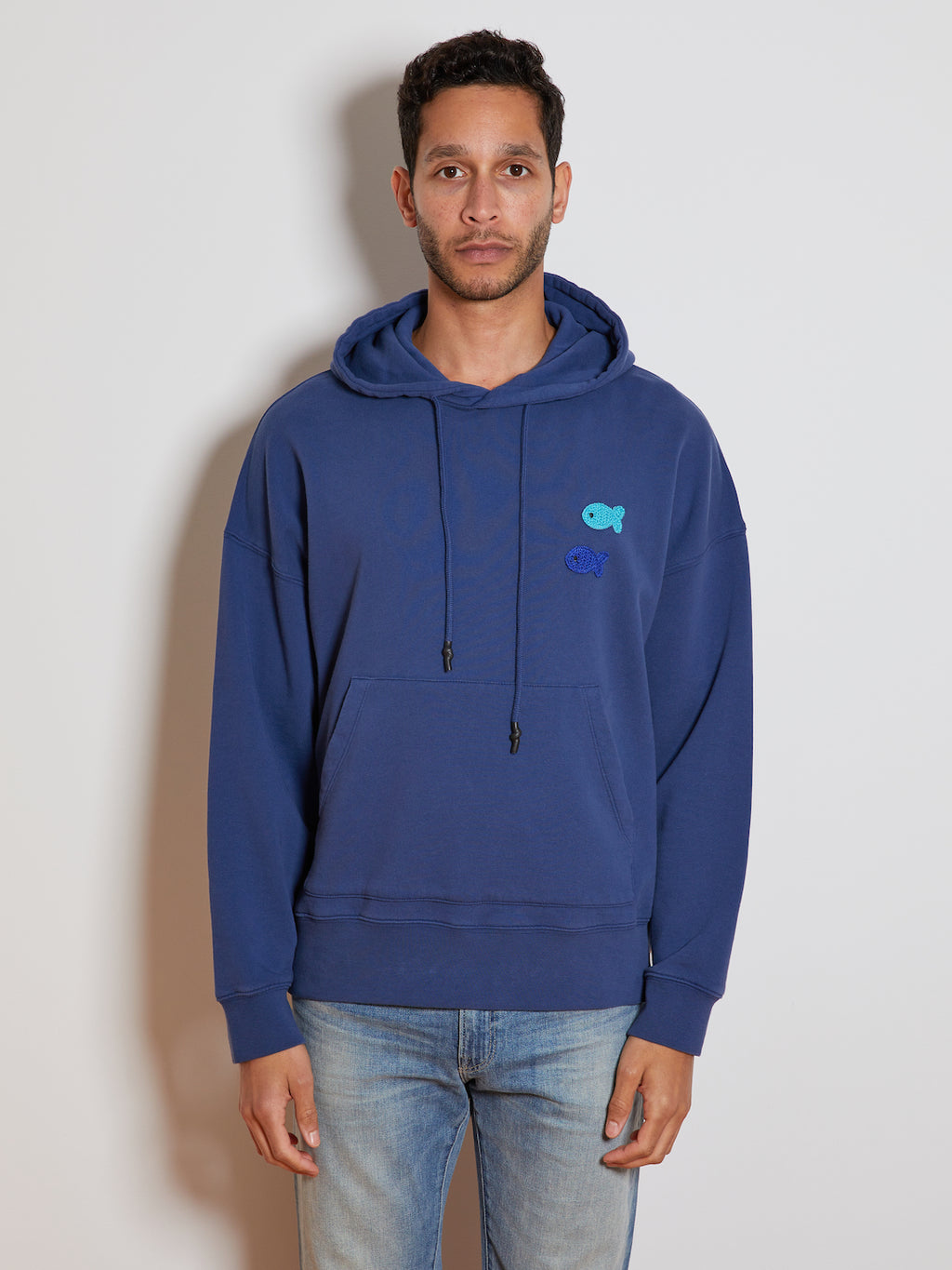 President's Organic Double Fish Hoodie, Blue Moon