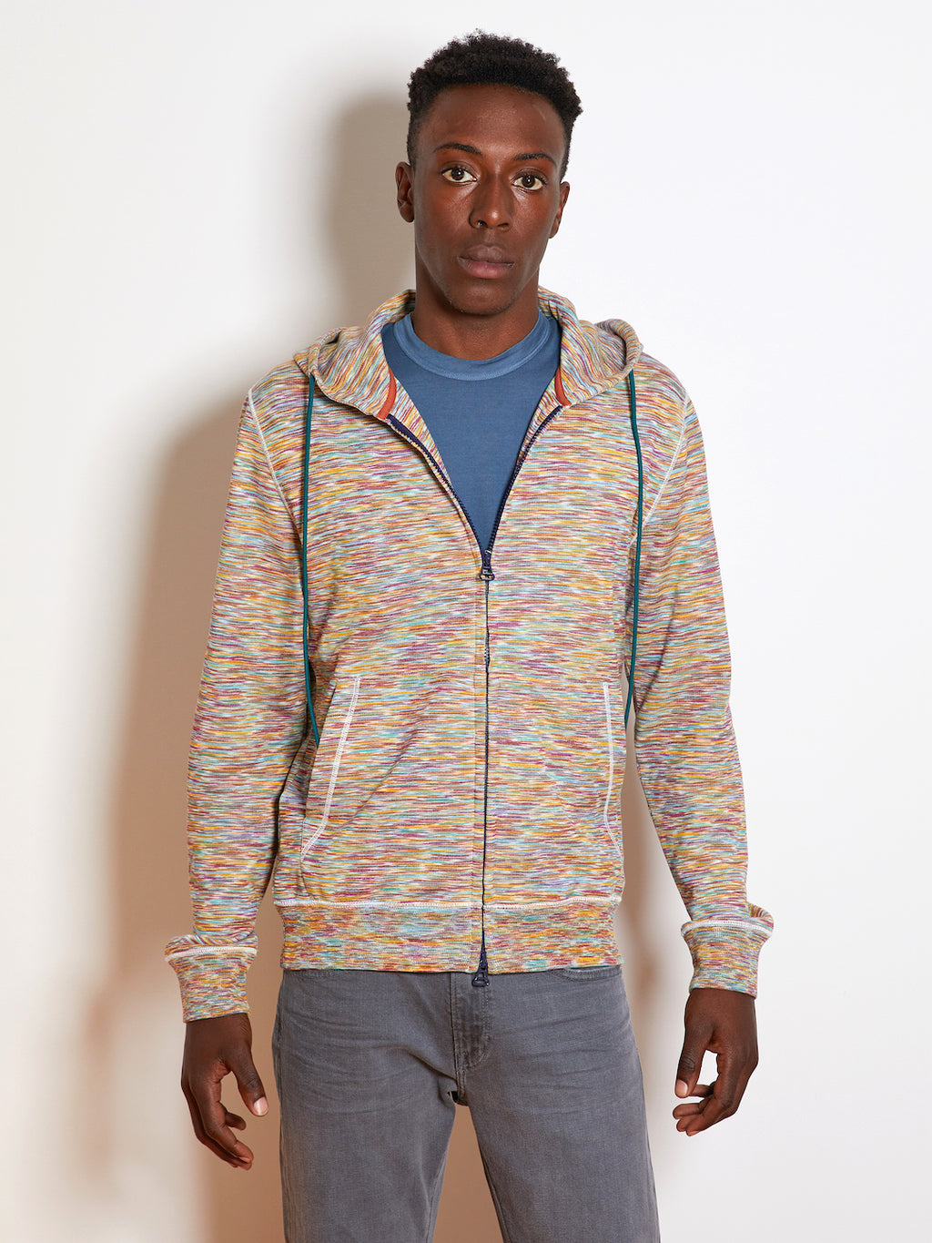 Missoni Hooded Zip Cardigan, Multi