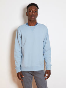 TEN C Knit Long Sleeve Crewneck Sweatshirt, Sky Blue