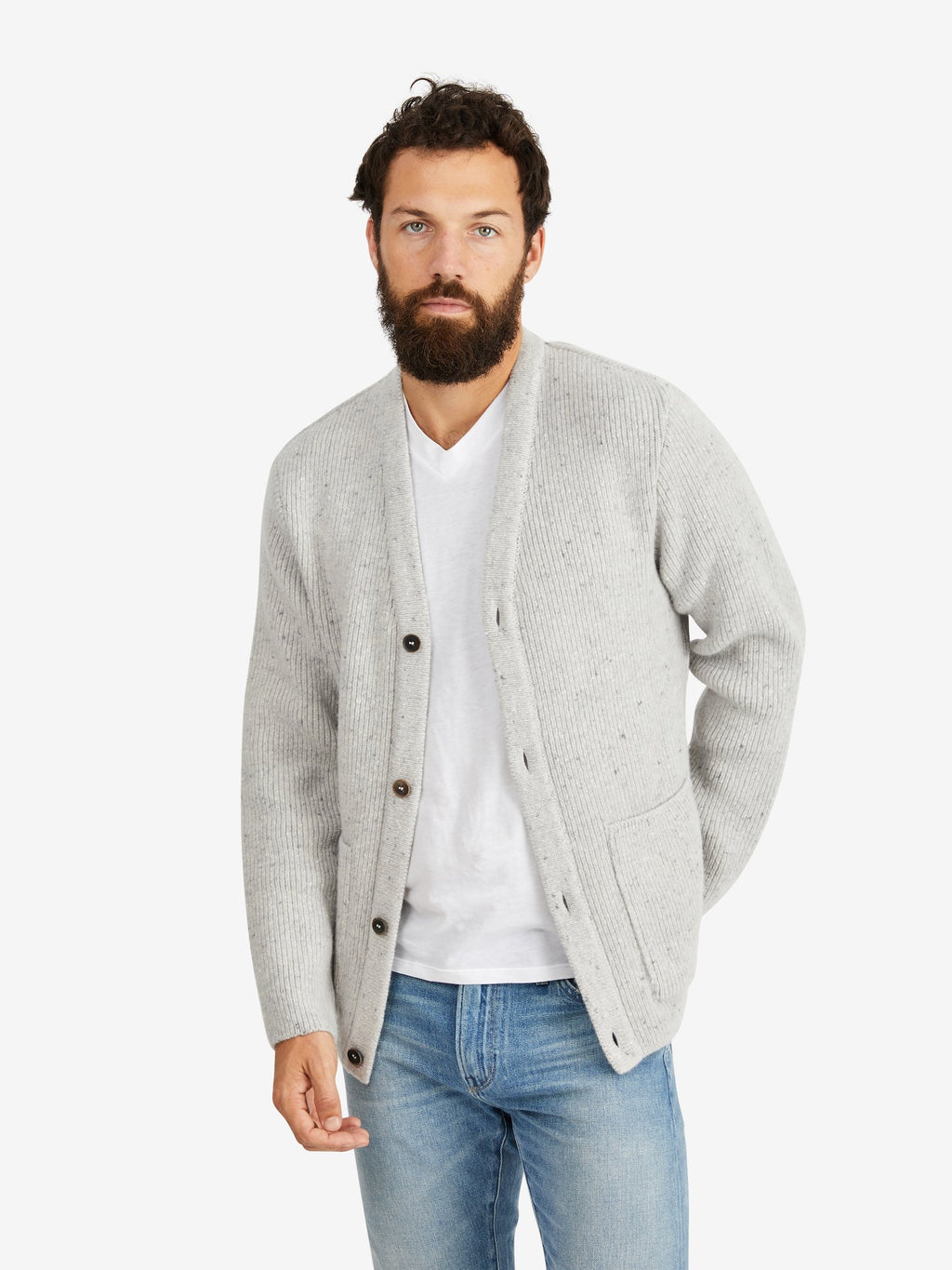 A-Kind-of-Guise-Gambino-Knit-Jacket-Snow-Melange