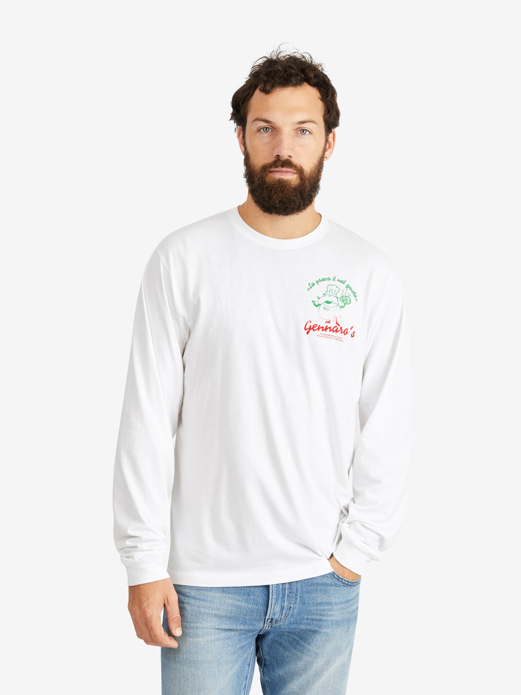 A Kind of Guise Gennaro Long-Sleeve White T-shirt