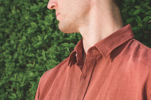 De Bonne Facture Essential Shirt Linen, Clay Red-S