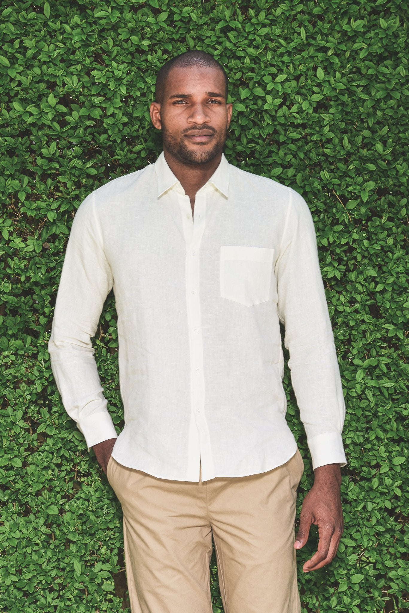 De Bonne Facture Essential Shirt Linen, Off White-S