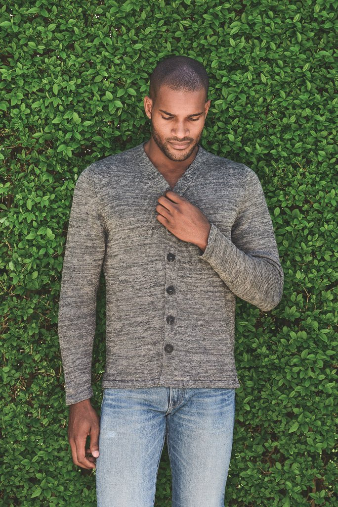 Inis Meain High V Linen Jacket