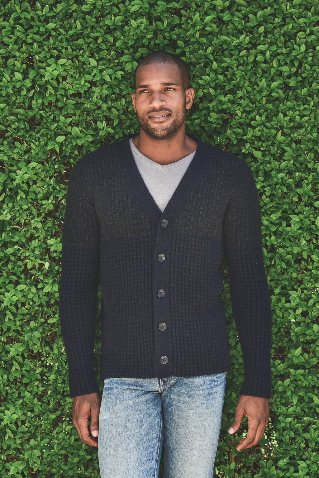 Harden Mixed Stitch Cardigan- L