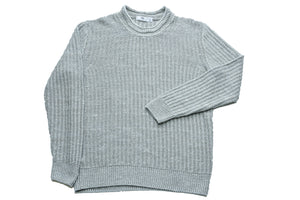 Inis Meain Chevron Crew Neck Sweater Sea Champion-M