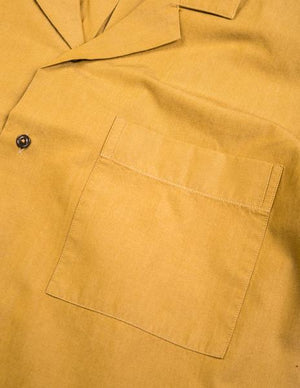 Brooklyn-Tailors-BKT18-Short-Sleeve-Camp-Shirt-Mustard-Crisp-Poplin