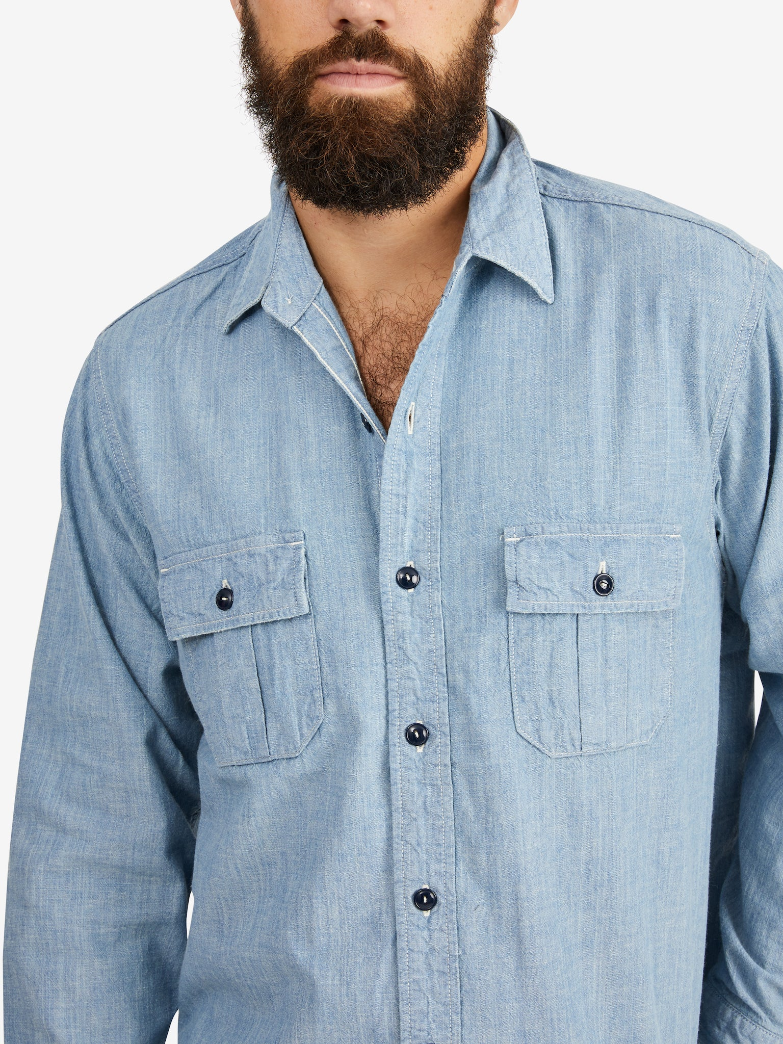 Chimala Slub Yarn Chambray Work Shirt