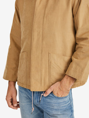 Chimala Suede Touch Peach Skin Short Blouson Jacket