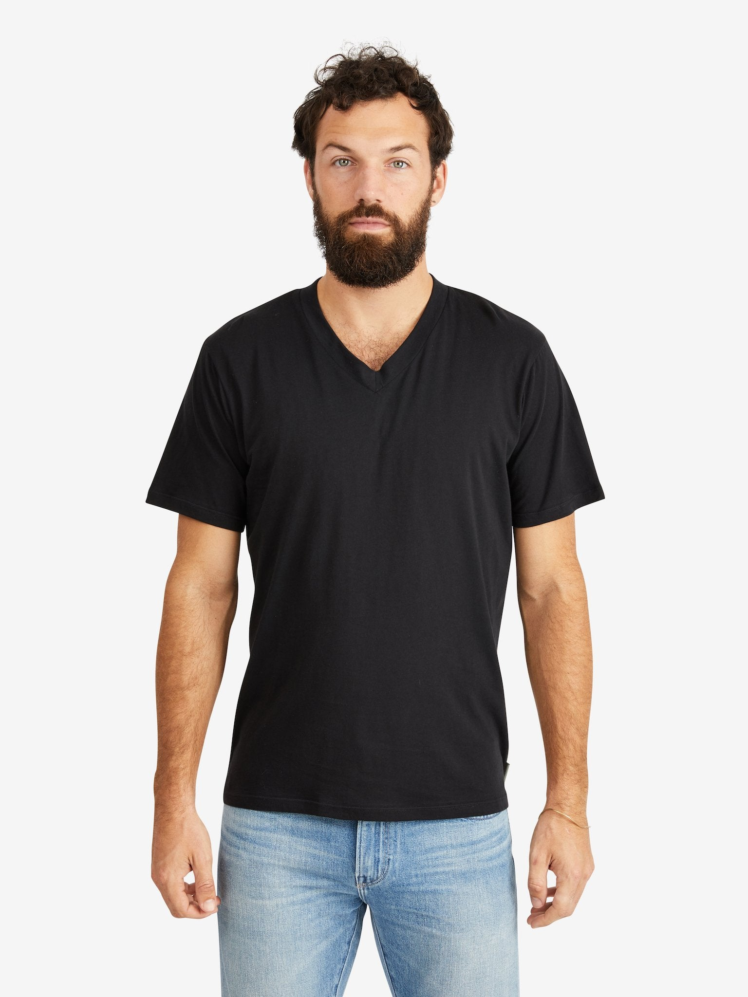 Hank-V-Neck-Tee-Black