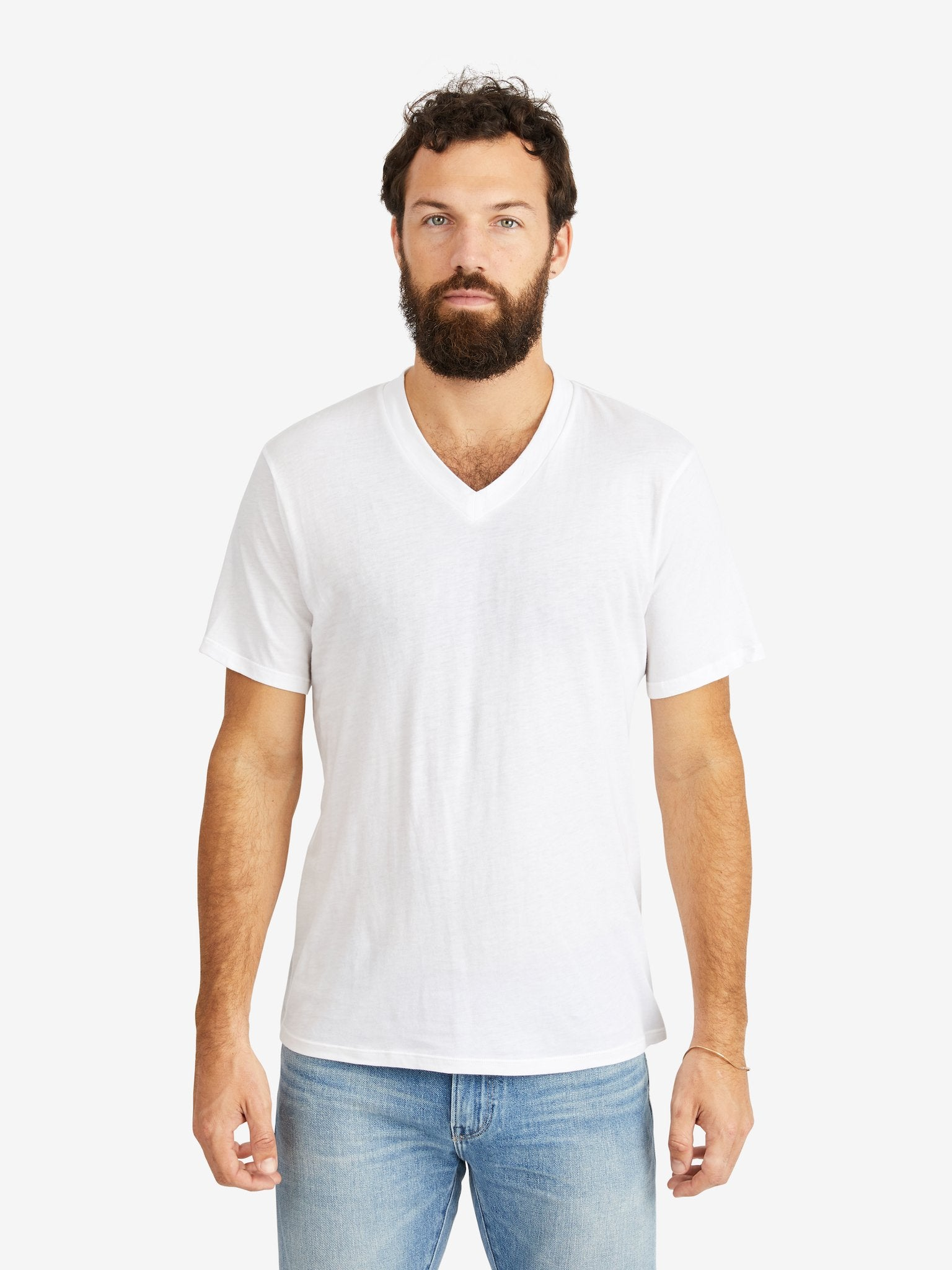 Hank-V-Neck-Tee-White