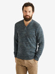 Inis Meain Hurler V-Neck Button Sweater