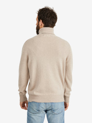 Lamberto Losani Cashmere High Neck Sweater- 54