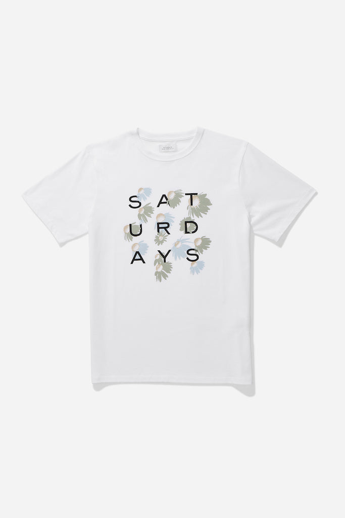 Saturdays-NYC-Daisy-Grid-White-Short-Sleeves-Tee