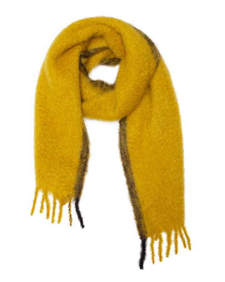 Lovat-&-Green-Marshmallow-Scarf-Yellow