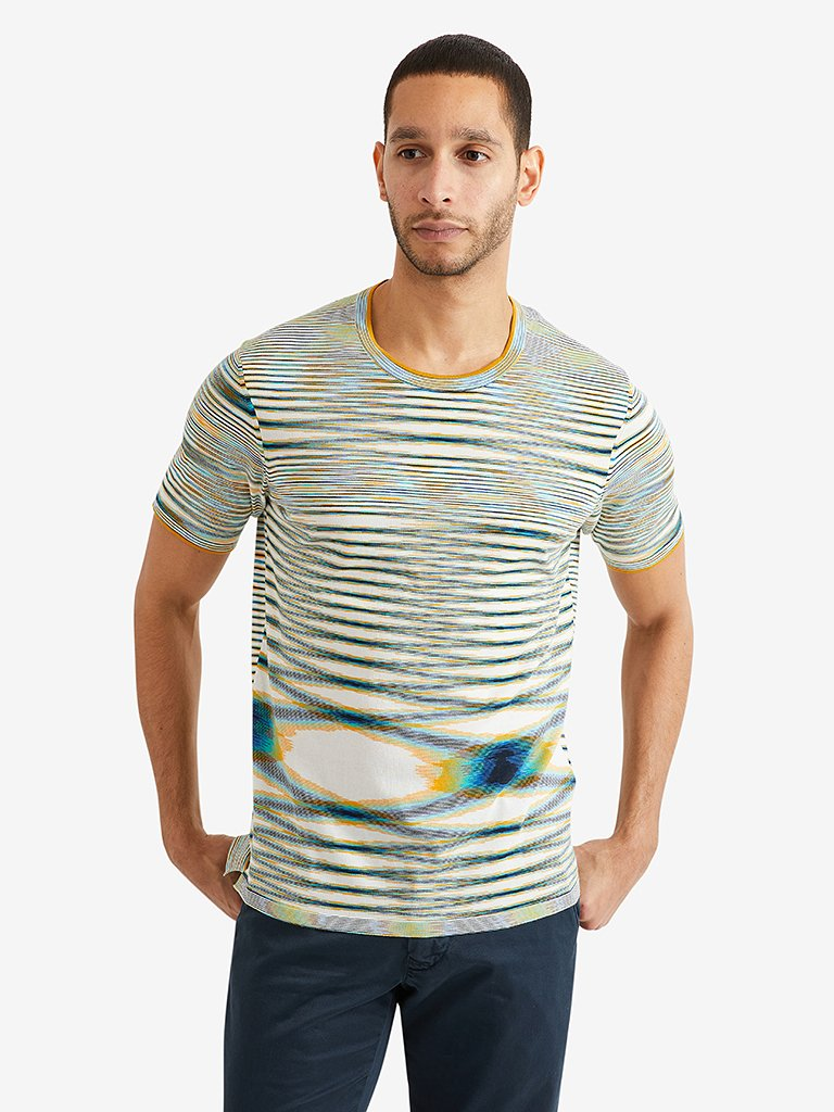 Missoni Short Sleeve Crewneck, Blue