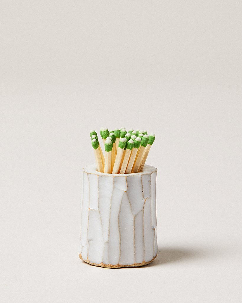 Farmhouse-Pottery-White-Log-Match-Striker