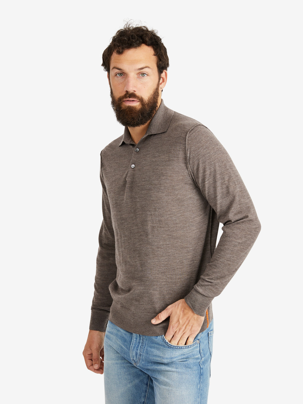 Extra Fine Merino Wool Knit Polo