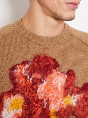 President's-Intarsio-Flower-Crew-Neck-Sweater