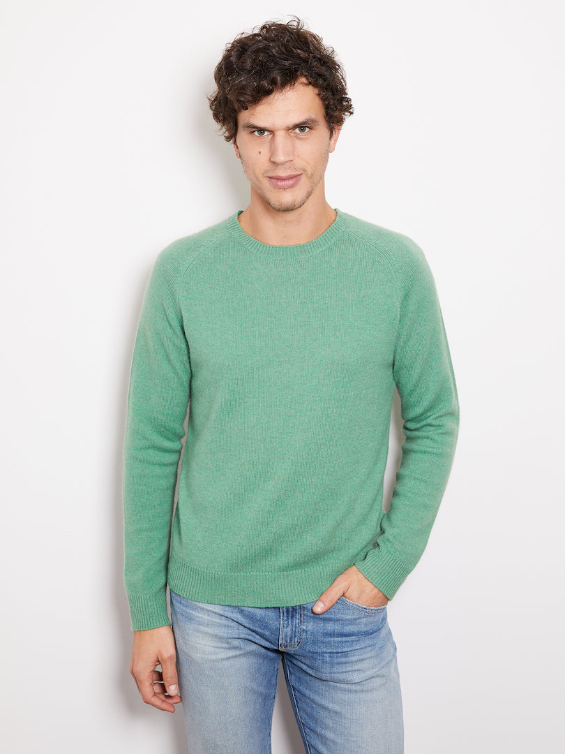 Hank Perfect Cashmere Rogers Raglan Crew Sweater Meadow