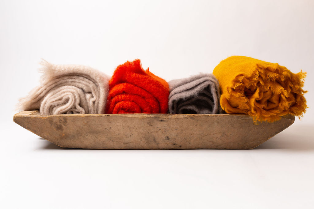Atelier Maia Solid Mohair/Wool Blanket