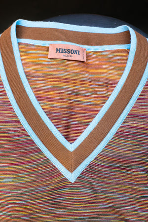 Missoni Scollo Long Sleeve V Neck Sweater