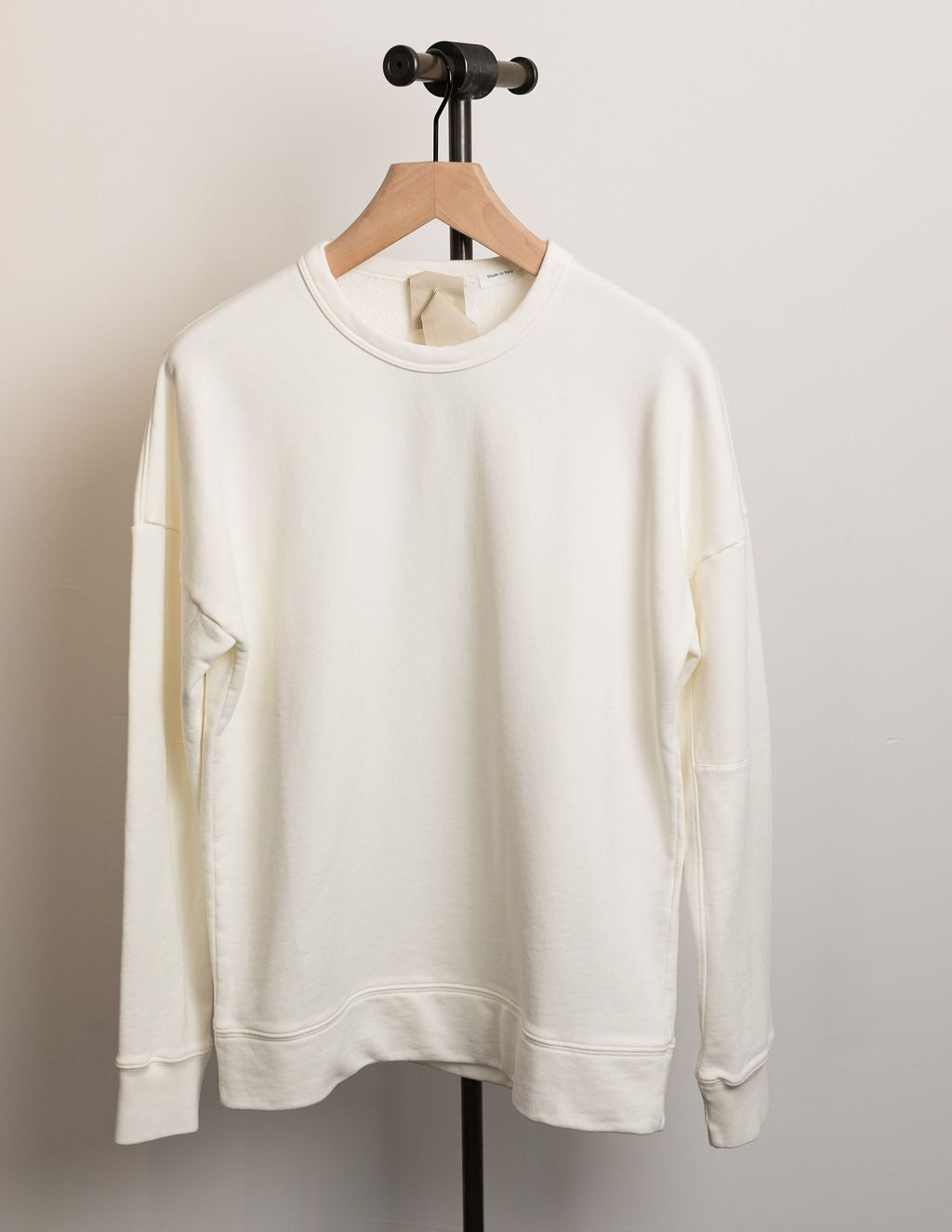TEN-C-Knit-Long-Sleeve-Crewneck-Sweatshirt-White
