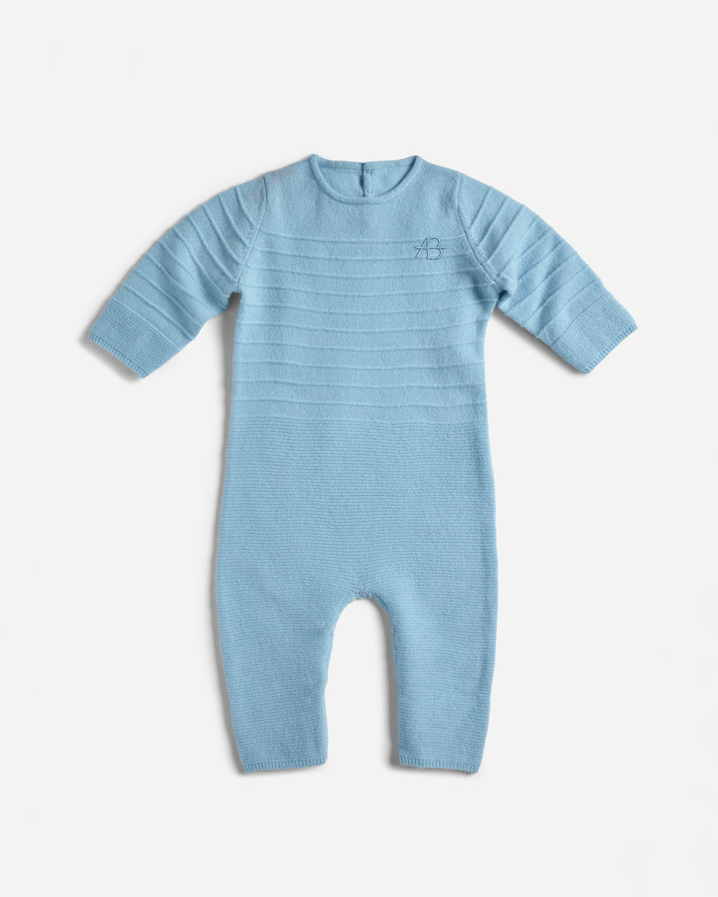 Archer's-Bow-Kids-Links-Monogram-Onesie-Blue