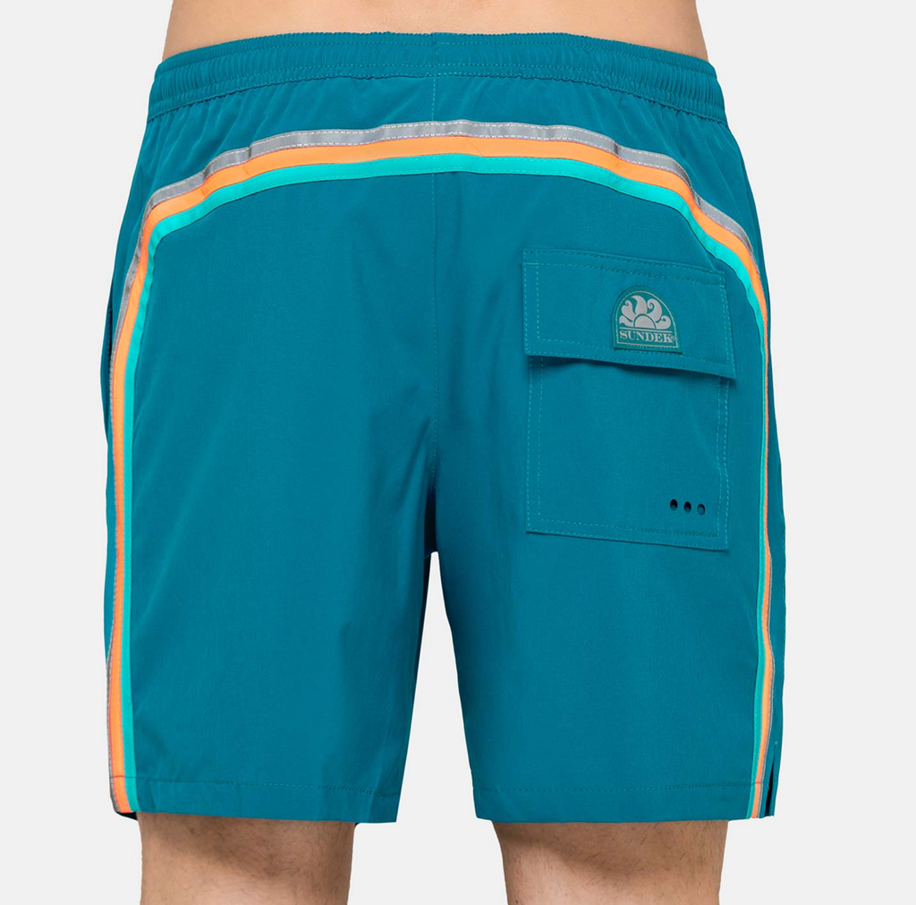 "Sundek-Stretch-Waist-Mid-Length-Swim-Trunks-16""-Teal"
