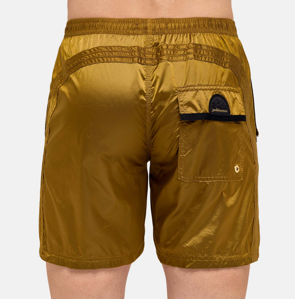 "Sundek-Stretch-Waist-Mid-Length-Swim-Trunks-16""-Gold"