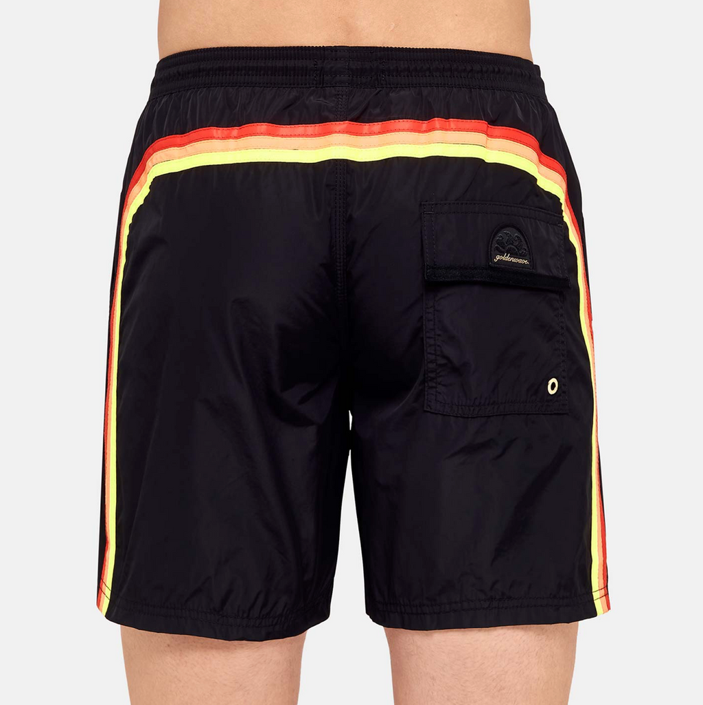 "Sundek-Stretch-Waist-Mid-Length-Swim-Trunks-16""-Black"