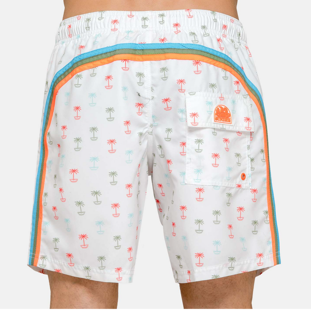 "Sundek-Stretch-Waist-Mid-Length-Swim-Trunks-16""-White-Print"