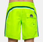 "Sundek-Stretch-Waist-Mid-Length-Swim-Trunks-16""-Neon-Green"