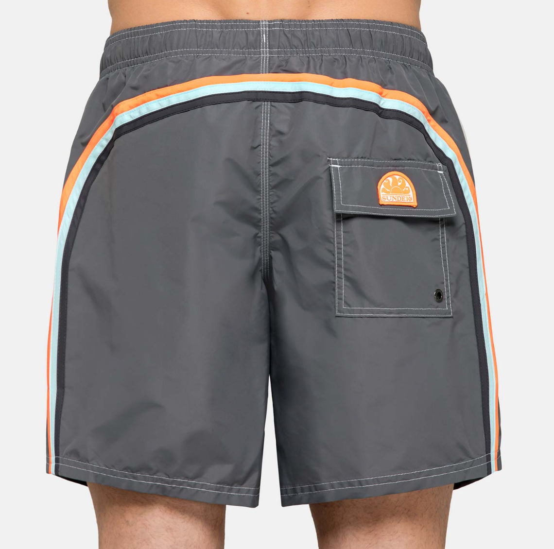 "Sundek-Stretch-Waist-Mid-Length-Swim-Trunks-16""-Grey"