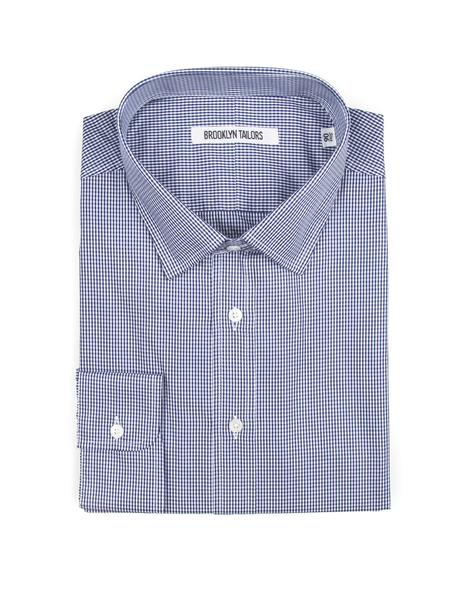 Brooklyn-Tailors-BKT20-Dress-Shirt-Navy/White-Gingham