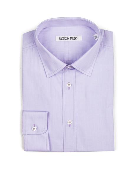 Brooklyn-Tailors-BKT20-Dress-Shirt-Lavender-End-On-End
