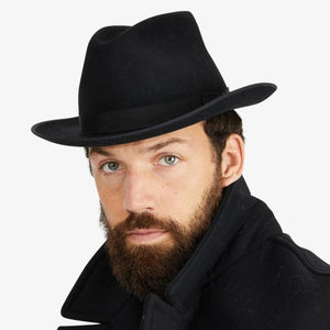 Stetson-Runabout-Packable-Fedora-Black