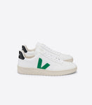 Veja V-12 Leather Extra White Emeraude Black Sneaker