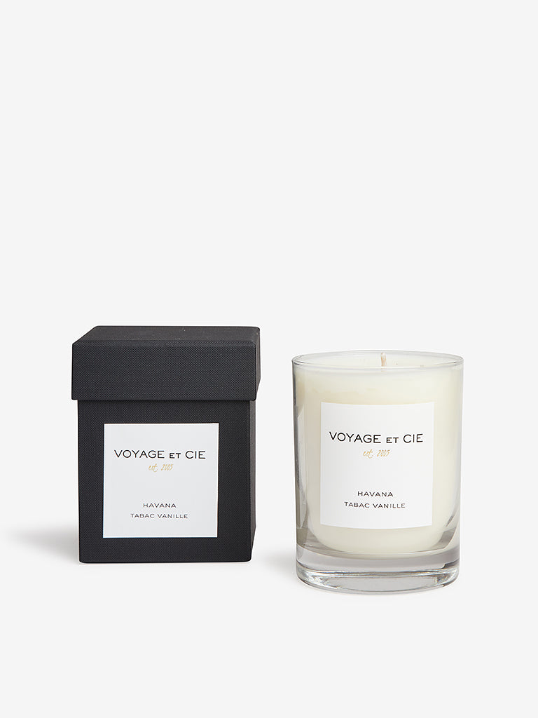 Voyage Et Cie 14oz Highball Candle Havana Tabac Vanille