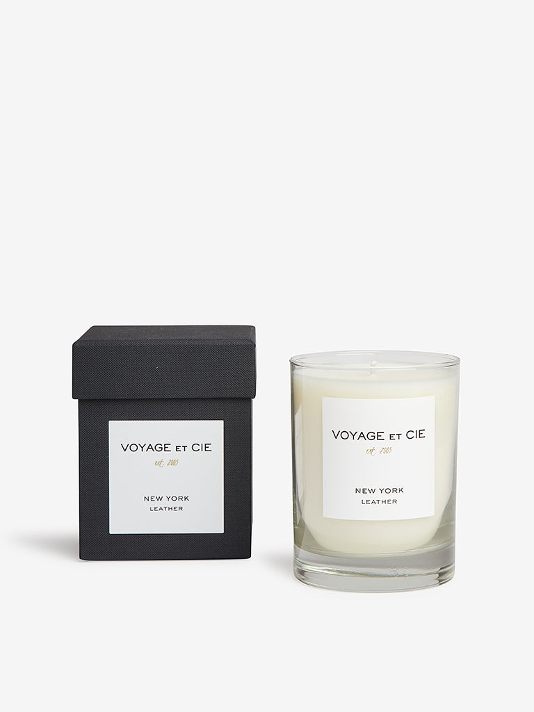 Voyage Et Cie 14oz Highball Candle New York Leather
