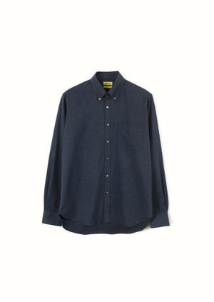 De-Bonne-Facture-Cotton-Chambray-Essential-Shirt-Navy