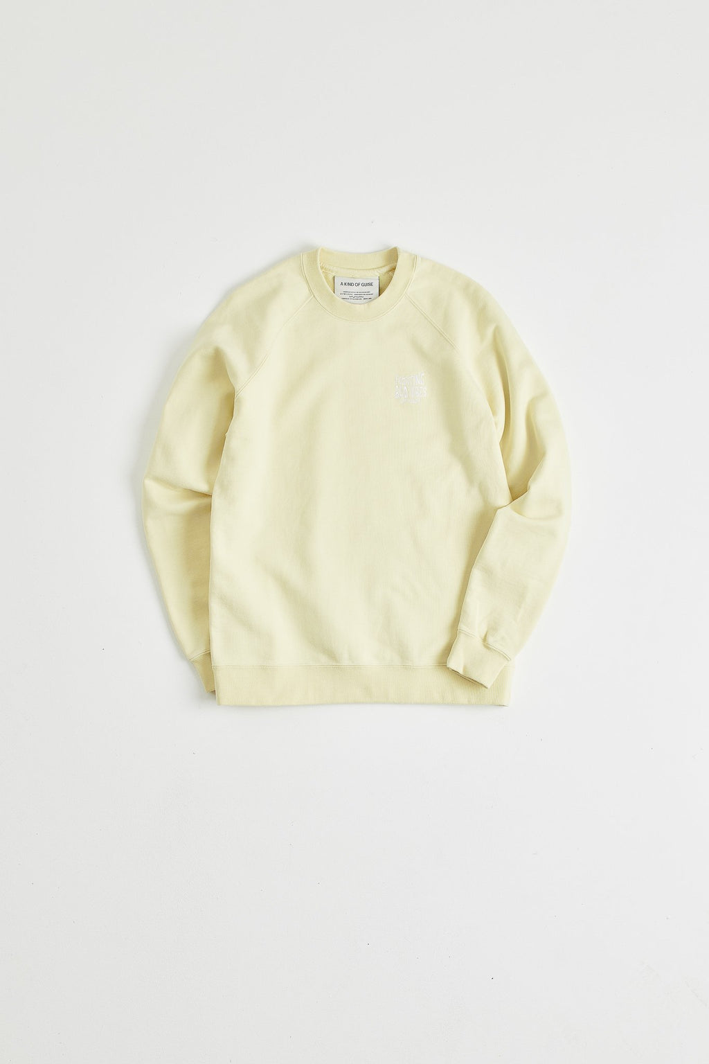 A Kind of Guise Mawu Crewneck, Bleached Lemon