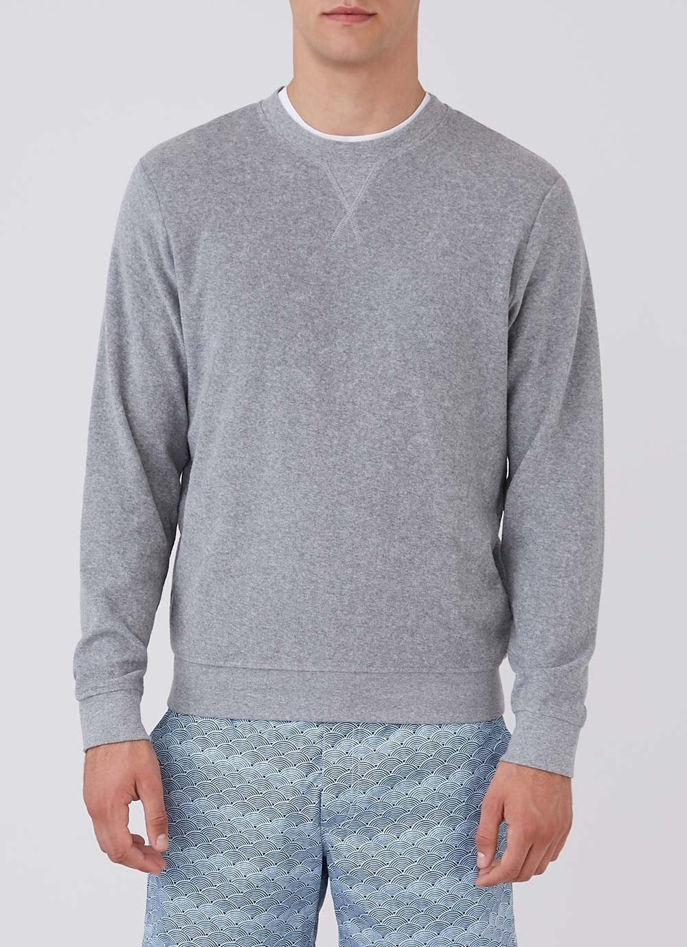 Sunspel-Organic-Cotton-Towelling-Sweatshirt-Grey-Melange