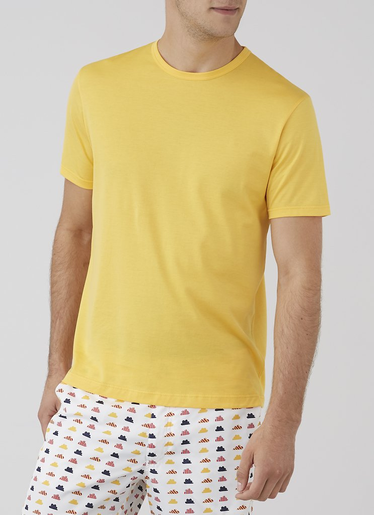 Sunspel-Short-Sleeve-Classic-Crew-Neck-T-Shirt-Ochre