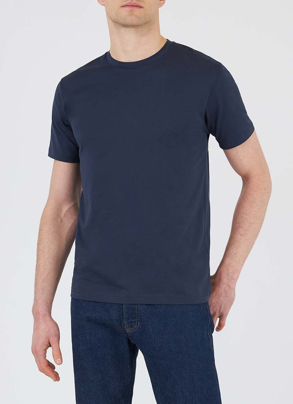 Sunspel-Short-Sleeve-Classic-Crew-Neck-T-Shirt-Navy