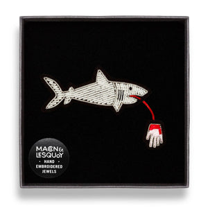 Macon-et-Lesquoy-Shark-with-Hand-Pin