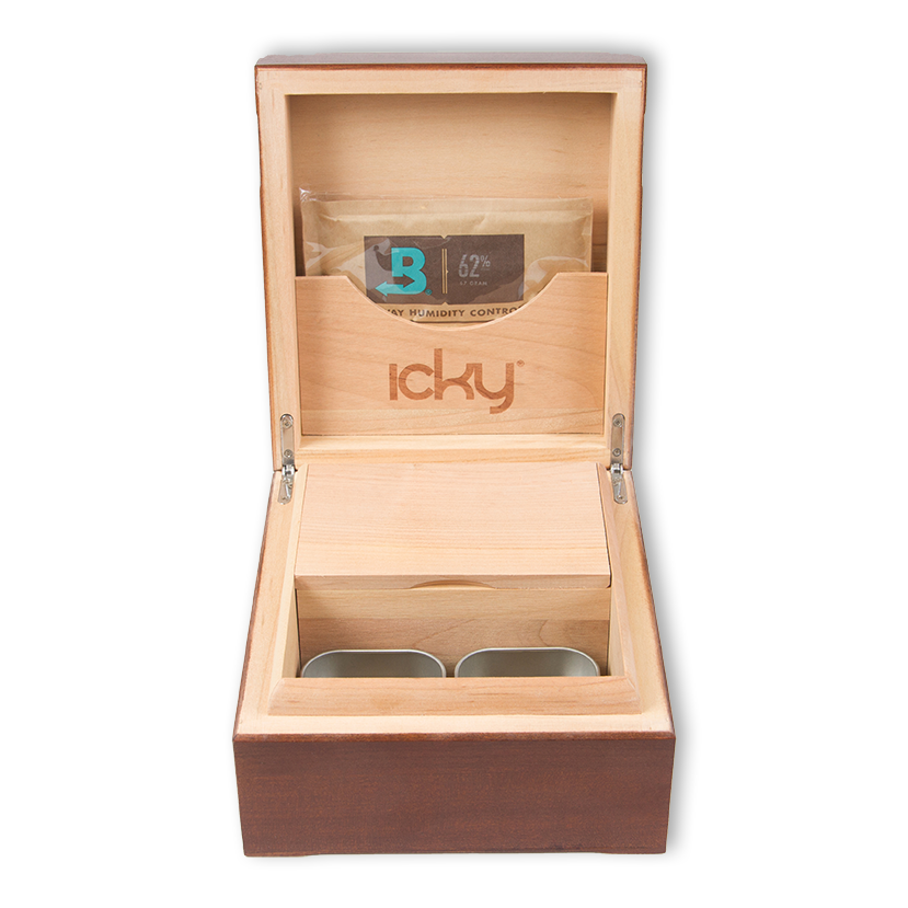 icky humidor 4 tin in spanish oak