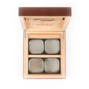 buy icky humidor 4 tin in spanish oak