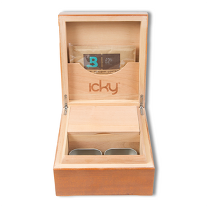 buy icky humidor 4-Tin in Natural Stain